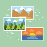collection gallery photo artistic picture vector illustration - 204655827