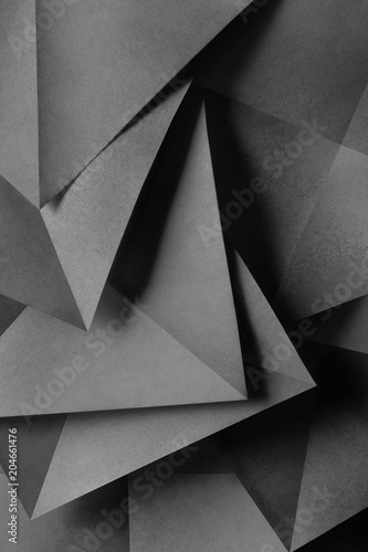 Composition with geometric shapes, abstract background