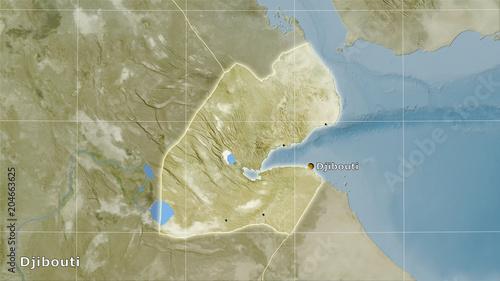 Fototapeta Djibouti, satellite B - composition