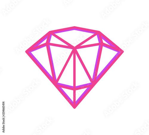 Abstract Geometric Fugure of Bright Pink Diamond