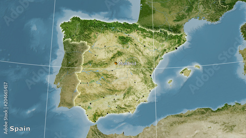Spain, satellite B - composition