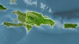 Dominican Republic, satellite B - light glow