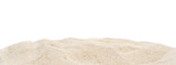 Pile dry sand isolated on white. - 204729694