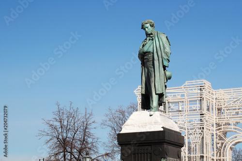 Plexiglas Moskou Monument of Pushkin, Moscow