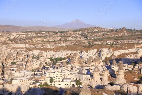 Plexiglas Zalm Goreme city view in the Goreme national park, Cappadocia, Turkey.