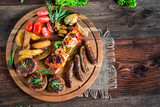 Barbecue - Grillen - Fleisch - Catering - Buffet - 204745608