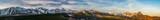 Tatra mountains panorama, sunrsie spring, Poland landscape