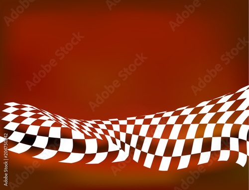 checkered flag racing background vector