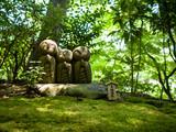 Praying stone statues in Japan