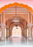 Jaipur city palace in Jaipur city, Rajasthan, India. An UNESCO world heritage know as beautiful pink color architectural elements. A famous destination in India. - 204766410