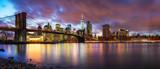 Brooklyn bridge and Manhattan after sunset, New York City - 204774451