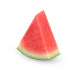 Sliced red watermelon, seedless watermelon  isolated on white background
