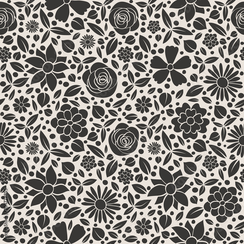 Stylish floral pattern - wrapping paper. Vector. - 204778855