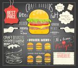 Burger Menu Template Placemat - 204780496