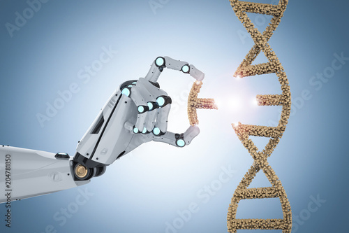 Genetic engineeering concept