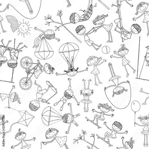Fototapeta Pattern of the playfull children