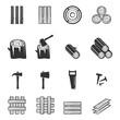 wood icon vector illustration - 204796015