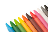 Wax pencils isolated over white background - 204803074