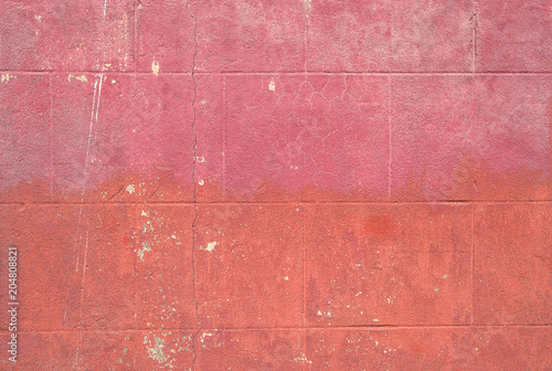 Plexiglas Betonbehang Pink brick wall texture Concrete grungy background wallpaper