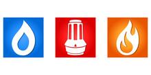 Klempner  Heizungstechniker  Logo Sticker