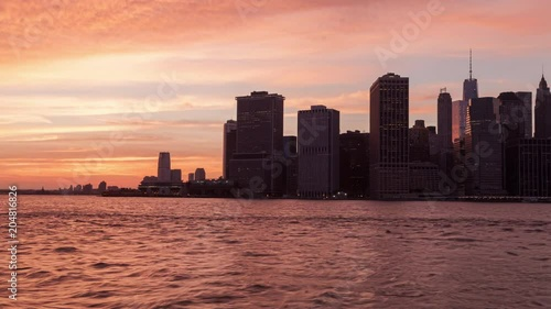 Lower Manhattan Time-lapse From Brooklyn Day to Night