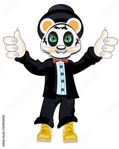 Fototapeta Animal panda in suit