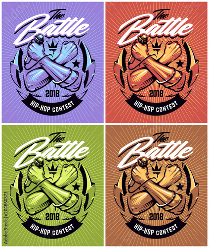 Hip-hop Battle Poster Designs