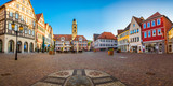 Beautiful scenic view of the old town in Bad Mergentheim - part of the Romantic Road, Bavaria, Germany