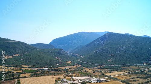 Plexiglas Lichtblauw mountain landscape