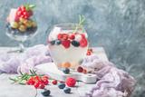 Detox fruit infused flavored water.