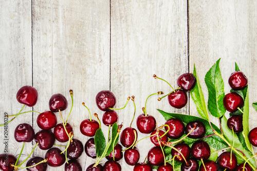Foto Murales Red cherries. Selective focus.