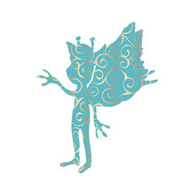 Pixie Pattern Silhouette Mythical Animal Fantasy Sticker