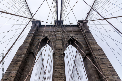 Brooklyn bridge arches and suspension wires