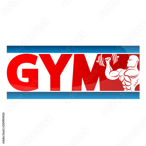 Wall mural Gym banner concept