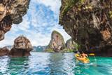 Crystal clear sea at Railay Beach - Krabi province, Thailand