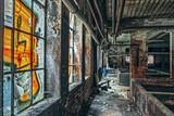 Abandoned factory indoor windows - 204937066