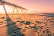 coucher de soleil sur le pont