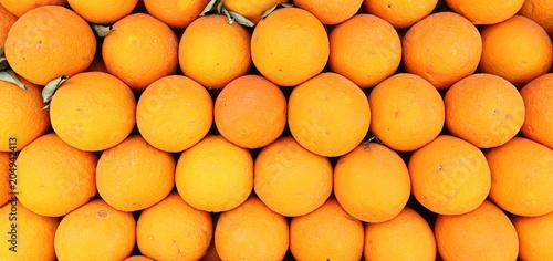 Full Frame Food Background: Oranges