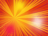 Comics pop art style background. Rays and halftone dot.  - 204943053
