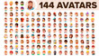 People Avatar Set Vector. Man, Woman. Human Emotions. Anonymous Male, Female. Icon Placeholder. Person Shilouette. User Portrait. Comic Emotions. Flat Handsome Manager. Flat Cartoon Character