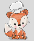 Caroon Fox in a cook hat
