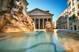 Fountain on Piazza della Rotonda with Parthenon behind, Rome, Italy - 204952286