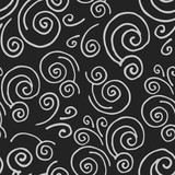 Adstract hand drawn seamless pattern with waves.