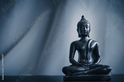Canvas Boeddha black statue of Buddha