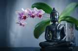 Buddha and Orchid