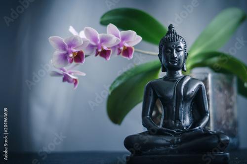 Fototapeta Buddha and Orchid