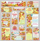 Fast food restaurant tag for takeaway menu design