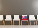 Chair with flag of slovakia