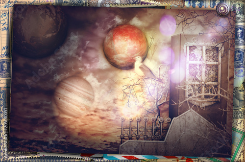 Canvas Imagination Dream home at dawn