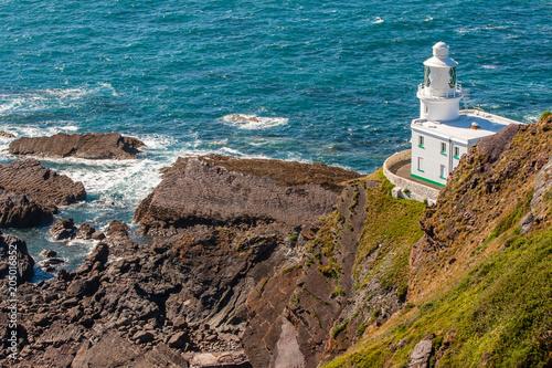 Fotobehang Vuurtoren Hartland Point Lighthouse, Devon, England